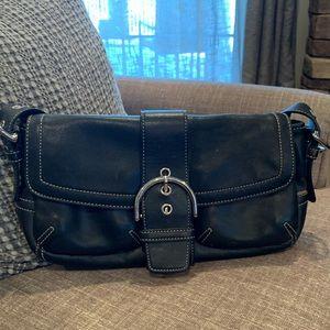 Coach Black Leather Bag *Authentic*
